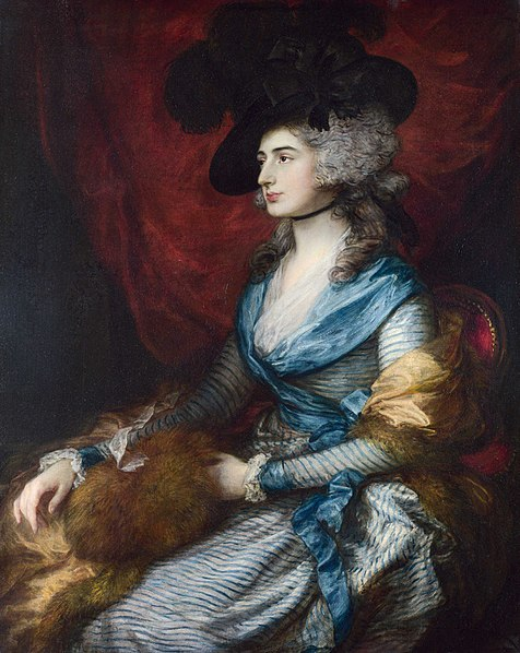 Mrs. Sarah Siddons by Thomas Gainsborough 1785Oil on canvas
