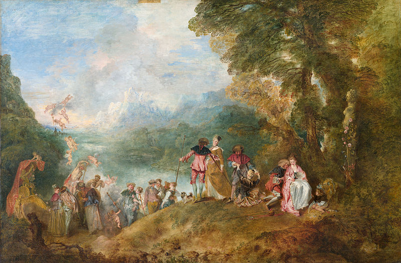 Return from Cythera (also known as Pilgrimage to Cythera) by Antoine Watteau1717Oil on canvas