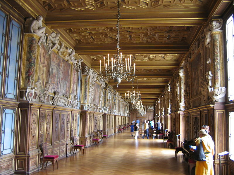 Interior of Palace of Fontainebleau
