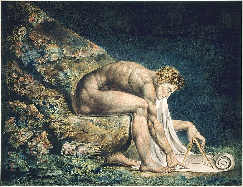 Newton by William Blake1804-1805Monotyping