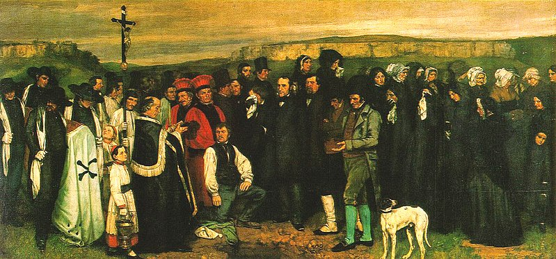Burial at Ornans by Gustave Courbet1850Oil on canvas