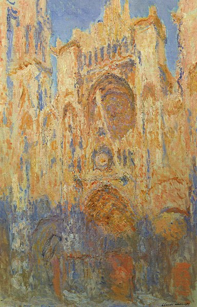 Rouen Cathedral: The Portal (Sunlight) by Claude Monet1892-1894Oil on canvas