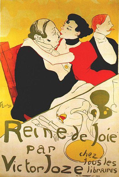 La Reine de Joie by Henri de Toulouse-Lautrec1892Chromolithograph (print)