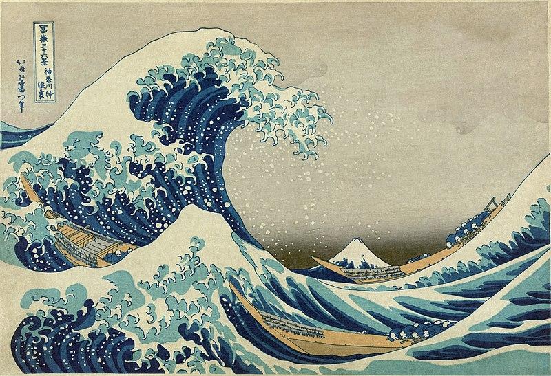 The Great Wave by Katsushika Hokusai1826-1833Color woodblock print