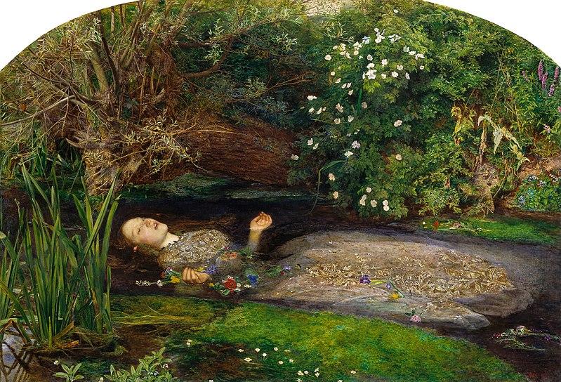 Ophelia by John Everett Millais1851Oil on canvas