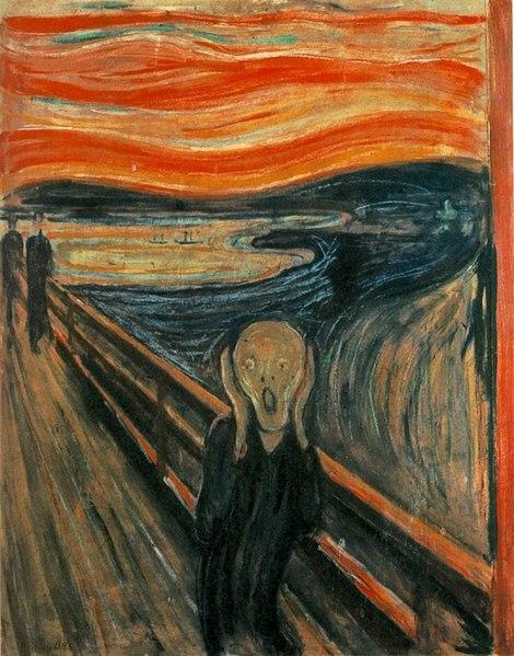 The Scream by Edvard Munch1893Oil on canvas