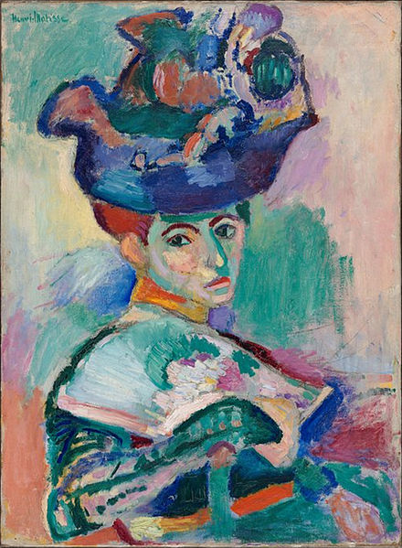 Woman with a Hat by Henri Matisse1905Oil on Canvas