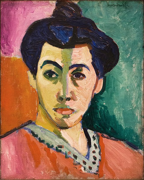 Portrait of Madame Matisse (also known as The Green Line) by Henri Matisse1905Oil and tempera on canvas