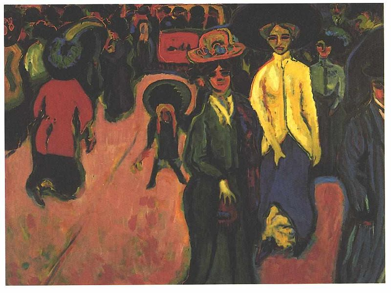 Street, Dresden by Ernst Ludwig Kirchner1908Oil on canvas