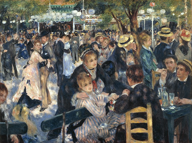 Dance at Le moulin de la Galette) by Pierre-Auguste Renoir1876Oil on canvas