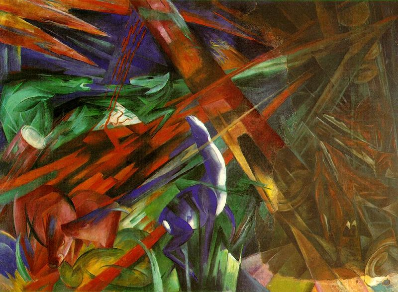 Fate of the Animals by Franz Marc1913Oil on canvas