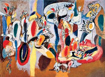 The Liver is the Cock's Comb by Arshile Gorky1944Oil on canvas