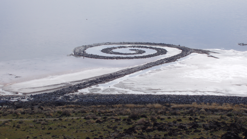 Spiral Jetty by Robert Smithson1970Great Salt Lake, Utah