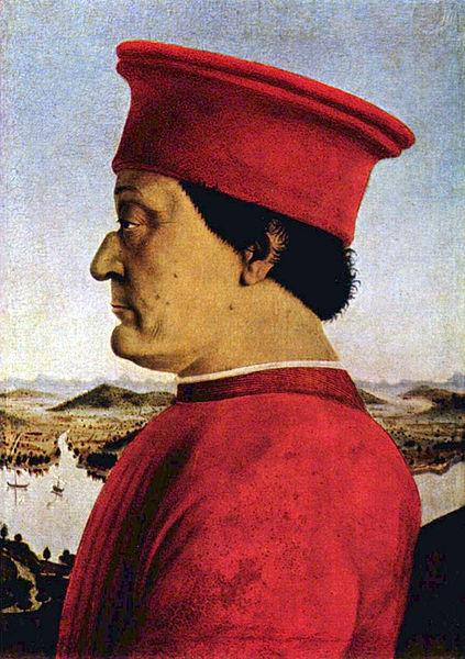 Portrait of Duke of Urbino by Piero della Francesca1470Tempera on wood