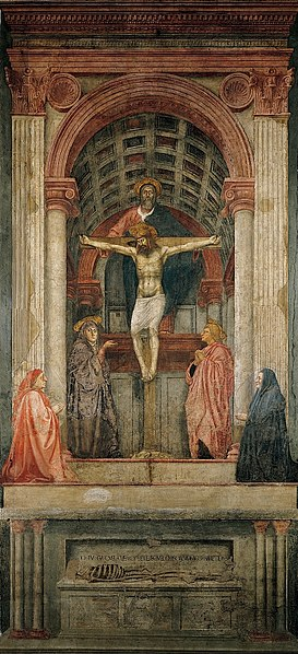 Holy Trinity by Masaccio1427 ADFresco