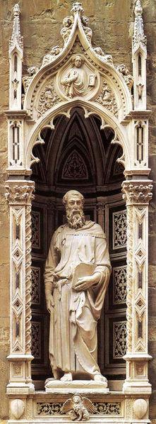 Saint Mark by Donatello1411-1413 ADMarble