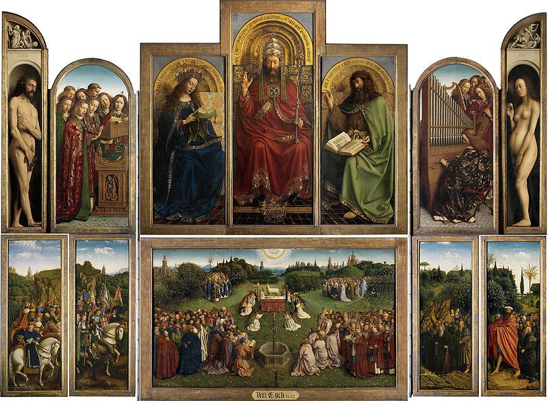 Ghent altarpiece by Jan van Eyck1432Oil on wood