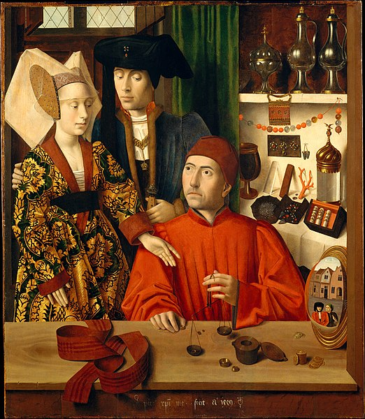 A Goldsmith in His Shop by Petrous Christus1449Oil on wood