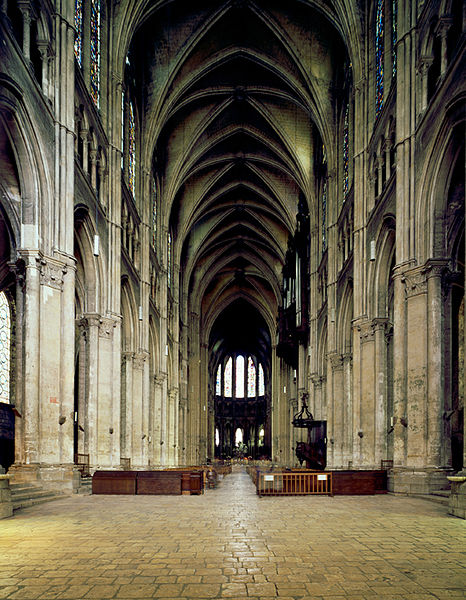 Nave at Chartres Cathedral