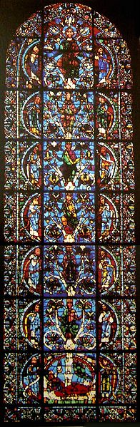 Jesse Tree window at Chartres Cathedral