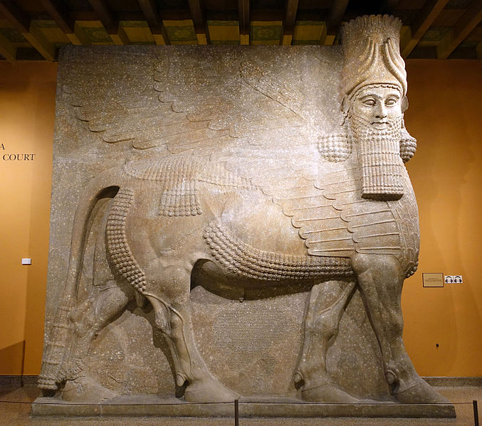 Lamassu from the palace of Sargon II721-705 BCRelief carving