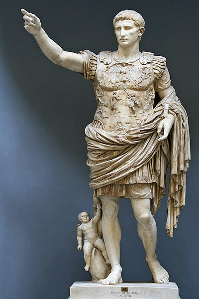 Portrait of Augustus at PrimaportaEarly 1st century ADMarble6'8