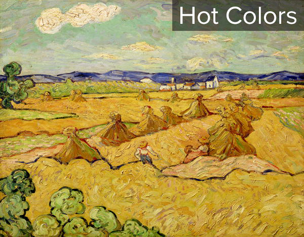The Haystacks by Vincent van Gogh