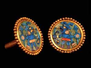 Ear ornament300 ADGold & semi-precious stoneSipán, Peru