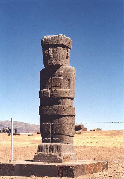 Tiwanaku stela sculpture200-400 ADTiwanaku, Bolivia