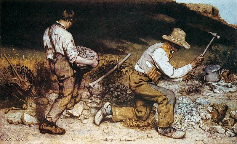 The Stonebreakers by Gustave Courbet1849Oil on canvas