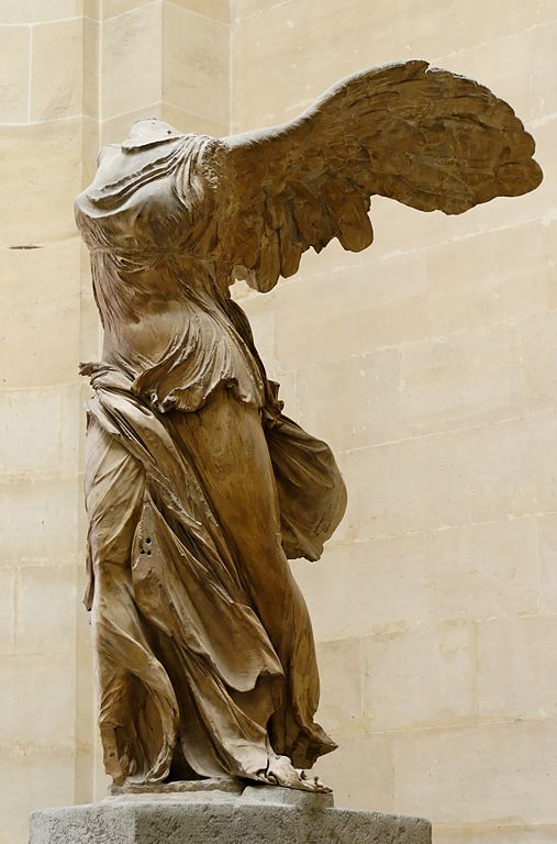 The Winged Victory of Samothrace (also known as The Winged Nike)