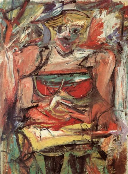 Woman V by Willem de Kooning1952-1953Charcoal and oil on canvas