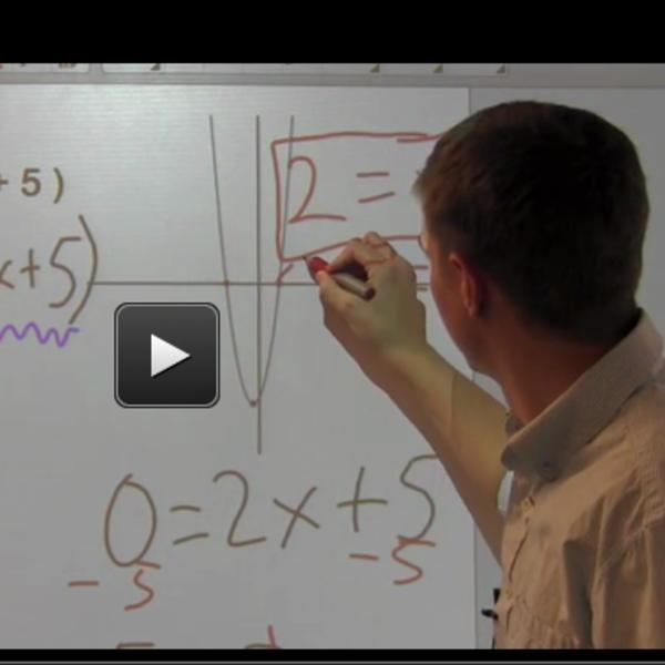 Solving Quadratic Equations using the Zero Property of Multiplication