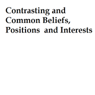 Contrasting and Common Beliefs, Positions and Interests