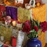 Altar for El Dia de Los Muertos: 25 Computers