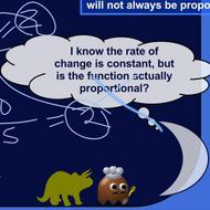 Constant Rates of Change and Proportional Relationships