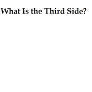 What Is The Third Side?