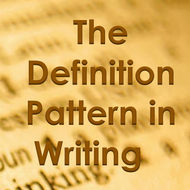 Definition Pattern in Writing