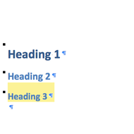 Headings & Subheadings