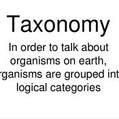 Three Domains/ Five Kingdoms /Taxonomy
