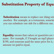 Defining the Substitution Property Of Equality