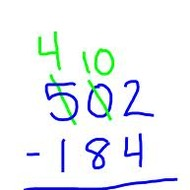 How do you subtract by regrouping?