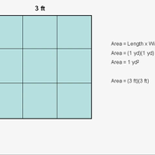 Converting Between Square Feet and Square Yards