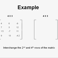 Interchanging Matrix Rows