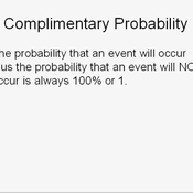 Calculating Complementary Probability