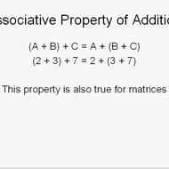Associative Property of Matrices