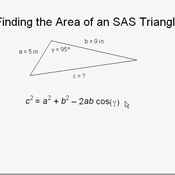 Finding the Area of an SAS Triangle