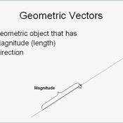Geometric Vectors