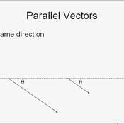 Parallel and Antiparallel Vectors