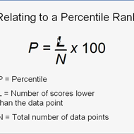 Relating Data to a Percentile